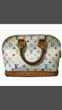 white and brown Louis Vuitton leather handbag Edmonton
