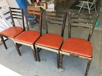 4 wood chairs as is can use some paint Saint Louis, 63129