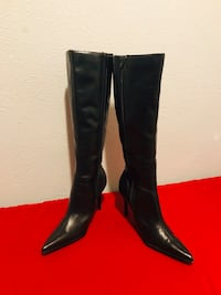 pair of black leather knee high boots Washington, 20024