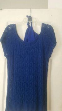 women's blue scoop-neck shirt Adelphi, 20783