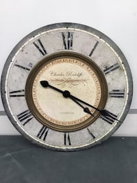 Charles redCliffe wall clock (retail $140)
