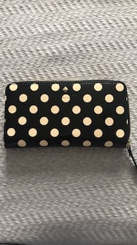 Kate Spade Black and White Polka Dot Vinyl wallet Guelph, N1L 1S2