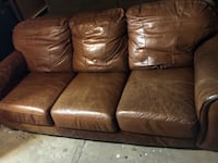 Brown genuine leather couch  Chicago