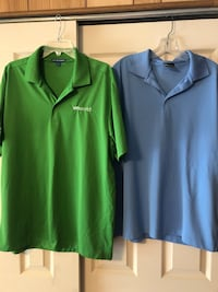 2 Men's Size Large Polo Shirts, VM Ware on shirts