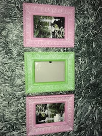 pink and green wooden photo frames Whitchurch-Stouffville, L4A 3G7
