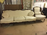 white and brown sofa chair