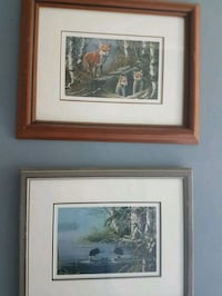two brown wooden framed painting of house Vanessa, N0E 1V0