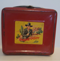 1950 Vintage Hopalong Cassidy  Red Lunch Box Colle Tyler