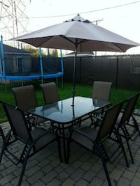 Patio set with 6 chairs  Laval, H7M