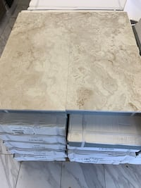 12x24 Ivory Porcelain Flooring travertine honed and filled look matte finish Arlington, 22209