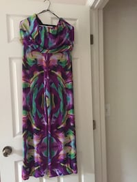 Women's multicolored floral jump suit. Size M
