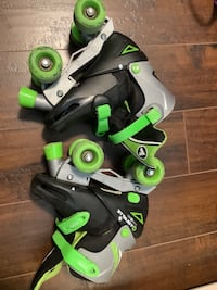 Kid roller skate nd ice skte
