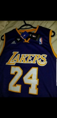 blue and yellow Lakers 24 jersey Mississauga, L5B 4C1