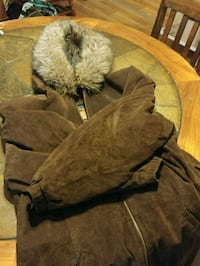 brown and black fur jacket Bath, 18014