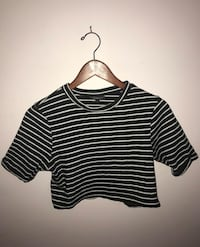black and white striped scoop-neck shirt Toronto, M6A