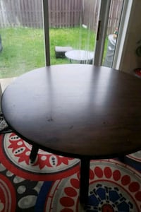 round black wooden table with four chairs dining s Mississauga, L5M 6N9