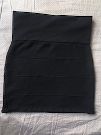Women's black fitted miniskirt (Pick Up Only)