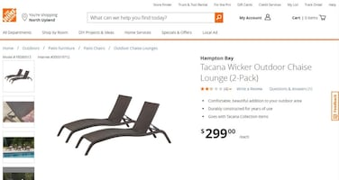 homedepot outdoor chaise lounge(unopen case 100% new)