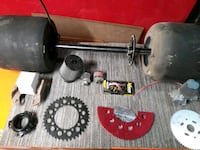 Go kart rear end and tires miscellaneous parts