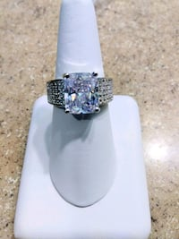 Large Silver Crystal Ring Beverly Hills, 34465