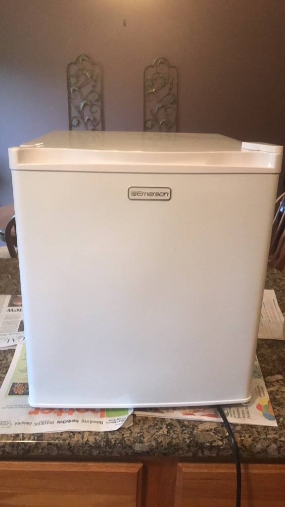 white and gray Haier compact refrigerator for sale  Lincoln