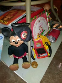 toddler's black and red Mickey Mouse themed sandals West Hempstead, 11552