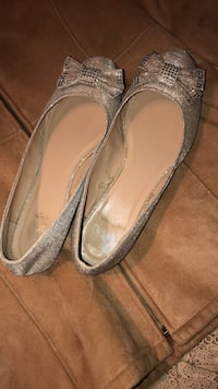 Pair of gray leather flats size 11 Falls Church, 22044