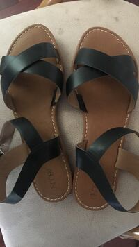 black-and-brown Abound leather ankle-strap sandals New Orleans, 70124