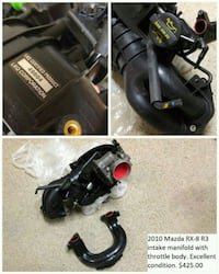 Mazda RX-8 Intake Manifold w/ Throttle Body Manassas, 20111