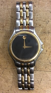 Movado stainless steel gold tone watch pre owned 783954-1 Baltimore, 21205