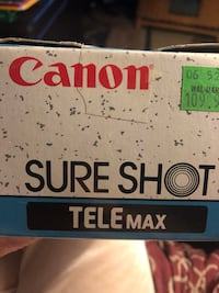 Cannon Sure shot camera w/3 rolls of films.Cost $109.96 at Walmart  make offer Terrell, 75160