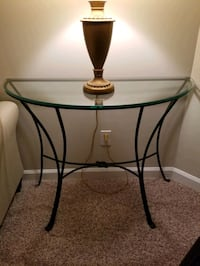 Glass 1/2 Round Table