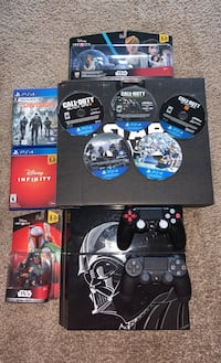 Star Wars Edition PS4 (Darth Vader) w/2 controllers and 7 games.