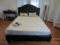 Brand new queen leather bed frame  Silver Spring, 20902