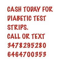 CASH TODAY FOR YOUR UNUSED DIABETIC TEST STRIPS CALL OR TEXT FAST FRIENDLY REPLIES!! New York