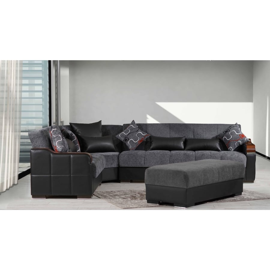 NEW GRAY SECTIONAL WITH STORAGE