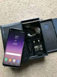 black Samsung Galaxy S8 with box 9 km