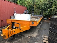 Trailer. 10 ton with 70 gallon gas tank and tool box