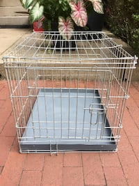 white metal folding dog crate Washington