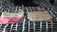 two pink and white leather bags Burlington, L7T 3T1