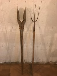 Post Hole Digger HEAVY DUTY  3 Tine Fork Old Lyme