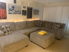 Sectional Couch  & Ottoman