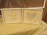 two white floral embossed photo frames Corona, 92879