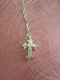 silver chain necklace with cross pendant Parma, 44129