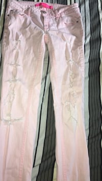 White and pink jeans. Size small  Toronto, M5L 2A1