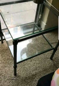 2 matching glass chrome end tables Washington, 20017