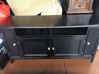black wooden TV stand with cabinet Fountain Hills, 85268