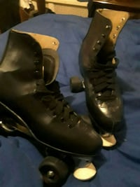 pair of brown leather combat boots Baltimore, 21216