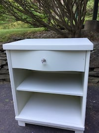 Night Stand, Painted Laminate, Light Mint Green, from the 60's