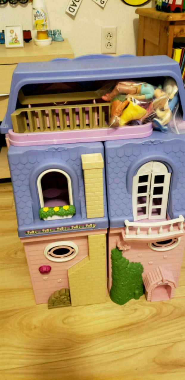 white and blue plastic dollhouse for sale  Dickson City